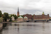 Stockholm , Sweden. Typical details of Scandinavian architecture. Waterfront — Stock Photo