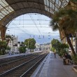 France , Nice. railway station Nice - one of the resorts of the Côte d'Azur France — Stock Photo #35356395