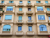 France , Nice. Typical architectural details of the facades of historic buildings (XIX-XX century) — Stock Photo
