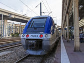 France , Nice. railway station Nice - one of the resorts of the Côte d'Azur France — Stock Photo