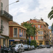 France , Cote d'Azur , Menton, 15 October 2013. View of the old town — Stock Photo