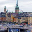Stockholm , Sweden. View of the city from a high point — Stok fotoğraf