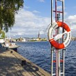 Stockholm, Sweden. A typical view of the waterfront — Stok fotoğraf