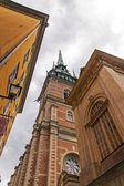 Stockholm, švédsko. typická architektura starého města — Stock fotografie