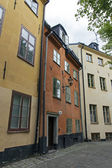 Stockholm , Sweden. Typical street of the old town on the island of Gamla Stan — Stock Photo