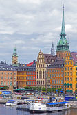 Stockholm , Sweden. Panorama waterfront — Stock Photo