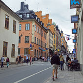 Stockholm , Sweden. Typical urban development — Stock Photo