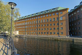 Stockholm, Sweden. A typical view of the waterfront — Stock Photo