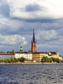 ストックホルム、スウェーデン。ウォーター フロントの典型的なビュー — ストック写真