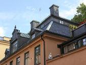 Stockholm, Zweden. typische architectonische details van gebouwen stad — Stockfoto
