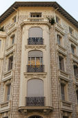 France , Nice. Architectural details typical of urban facades — Stock Photo