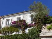 Fransa, cote d'azur, villefranche. provence tarihi kentin tipik mimari — Stok fotoğraf