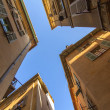 France , Cote d'Azur . Nice, typical architectural details of the buildings in the old town — Stock Photo #36465703