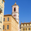 France , Cote d'Azur . Nice, typical architectural details of the buildings in the old town — Stock Photo