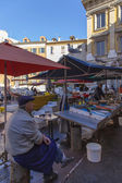 France , Cote d'Azur . Nice, Fish market in the open in the old town — Stock Photo