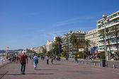 Frankrike, Rivieran. trevligt, 16 oktober 2013. beskåda av den promenade des anglais solig höstdag — Stockfoto