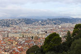 France , Cote d'Azur . Nice, October 17, 2013 . View of the city from the observation deck on the hill Chateau. — Stock Photo