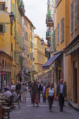 France , Cote d'Azur , Nice, October 18, 2013 . Typical urban look. Nice - the largest resort ituristichesky city on the French Riviera — Stock Photo