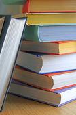 Renkli kitap yığını — Stok fotoğraf