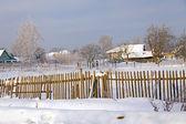 Russian village . winter view — Stock Photo