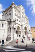 The Cathedral ща Monaco , built in 1875 . Is also the burial place of the Princes of Monaco — Stock Photo