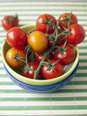 Tomatoes-cherry for salad — Stock Photo
