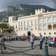 Principality of Monaco. Tourists walk on the square near the Prince's Palace — Stock Photo