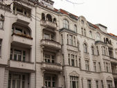Germany, Berlin . Architectural details of the houses built in the western part of the city in the early twentieth century — Stock Photo