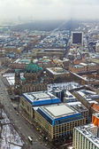 Germany, Berlin, February 20, 2013 . View of the Berlin from television tower at winter cloudy day — ストック写真