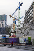 Germany, Berlin, February 21, 2013 . Construction of new buildings in Berlin — Foto de Stock