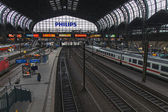 Hamburg, Germany , February 19, 2013. View of the main railway station platforms — Stockfoto