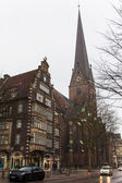 Hamburg, Germany , February 19, 2013 . Typical urban view overcast winter day — Zdjęcie stockowe