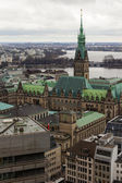 Hamburg, Germany , February 19, 2013 . View of the city from the 132- meter tower of the church of St. Michael — Stock Photo
