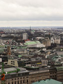 Hamburg, Germany , February 19, 2013 . View of the city from the 132- meter tower of the church of St. Michael — Стоковое фото