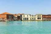 Italy, Venice June 21 2012. View of the coast of the island of Murano in the Venetian lagoon. — ストック写真