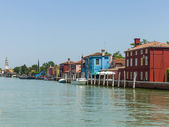 Italy, Venice June 21 2012. View of the coast of the island of Murano in the Venetian lagoon. — Stock fotografie