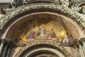 Venice, Italy, Architectural details of St Mark's Cathedral in Piazza San Marco — Stock Photo