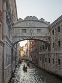 Venice, Italy. One of the famous attractions of the city - the Bridge of Sighs — Stock Photo