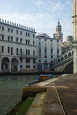 Venice, Italy, June 21, 2012. Morning fog over Venetian canals — Stock Photo