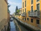 Venice, Italy, Typical city street view channel — Stock Photo