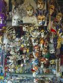 Venice, Italy . Showcase with souvenir masks — Stock Photo