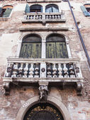 Venice, Italy, typical design of the window of the old Venetian house — Stock Photo