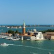 Italy , Venice. View of the island of San Giorgio from the belfry of the cathedral of San Marco — Stock Photo