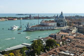 Venice, Italy, June 22, 2012. View of the city and the coast of the Venice lagoon from the belfry of the cathedral of San Marco — Stock Photo