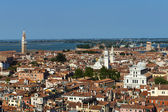 View of the city from the bell tower of the Cathedral of San Marco — Stock Photo