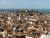 View of the city from the bell tower of the Cathedral of San Marco — Stock fotografie