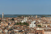 View of the city from the bell tower of the Cathedral of San Marco — Stockfoto