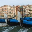 Venice, Italy . View of the piers for gondolas — Stock Photo #40392911