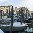 Venice, Italy . View of the piers for gondolas — Stock Photo #40392949