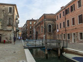 Venice, Italy. Kind of a Venetian canal in the early evening . — Stock Photo